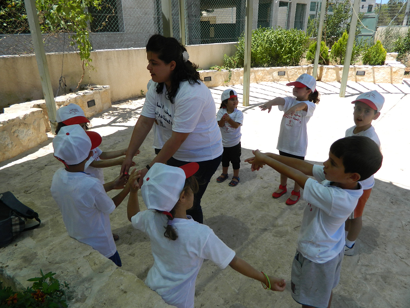 The children played several games that involved counting and singing